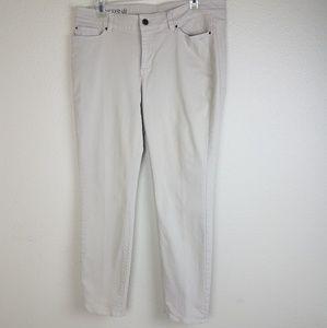 Ann Taylor Loft modern fit Jean's khaki color